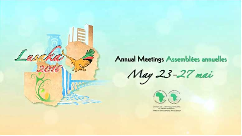 AfDB Annual Meeting 2016 Lusaka Zambia